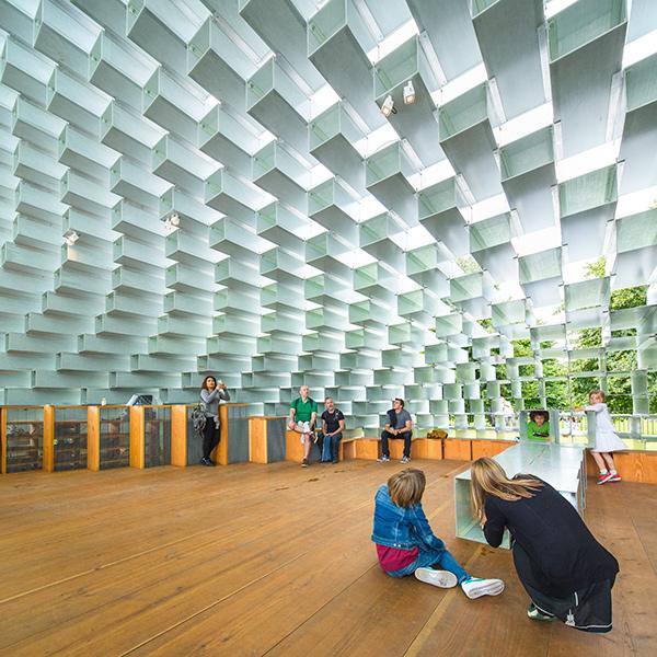 Interior of the 2016 Serpentine Pavilion.