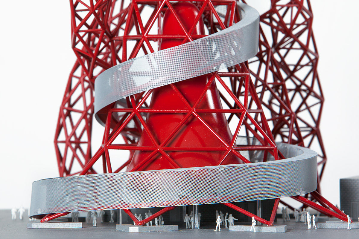 Architectural model image of the The Arcelormittal Orbit, London, United Kingdom.