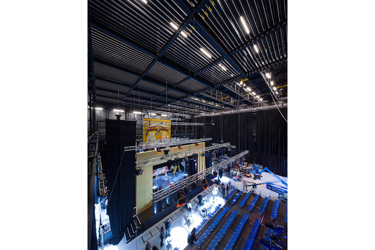 The vast interior of The Backstage Centre, Purfleet, United Kingdom.