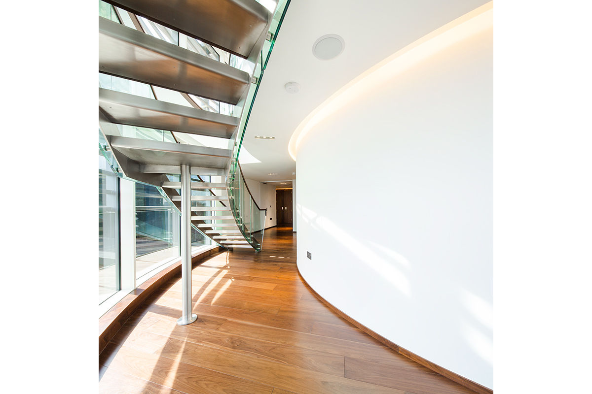 Interior view of new penthouse apartment, central London, United Kingdom.