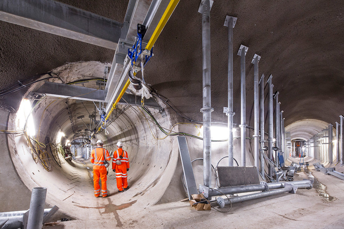 Power tunnels construction, London, United Kingdom.