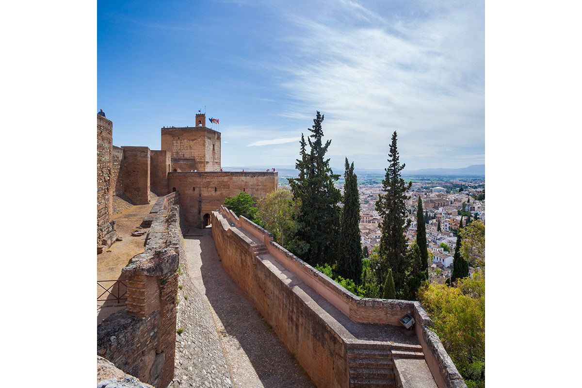 A view of Grenada from The Alhambra, Spain.