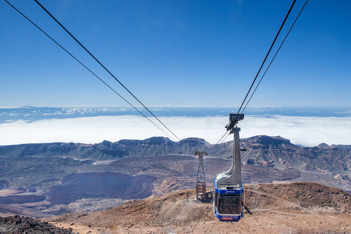 The cable car on Mount Teide, Tenerife, Spain.