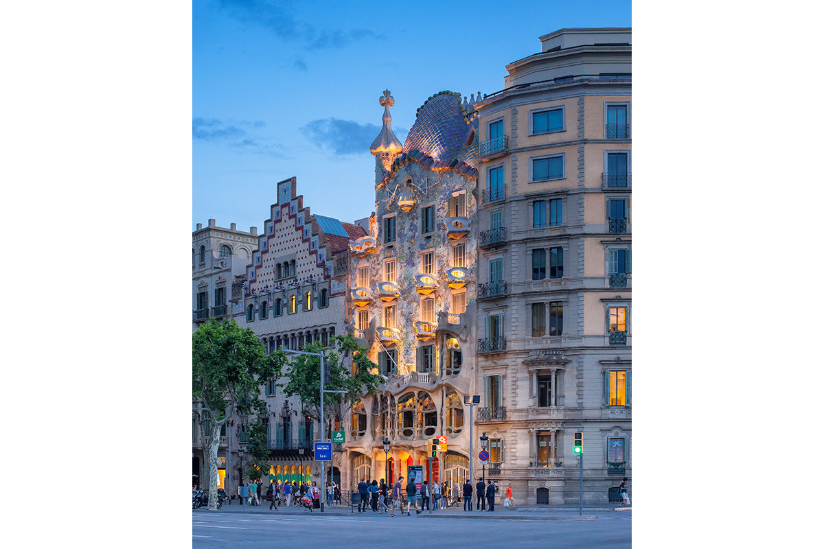 Antonio Gaudi's Casa Batlló in Barcelona, Spain.