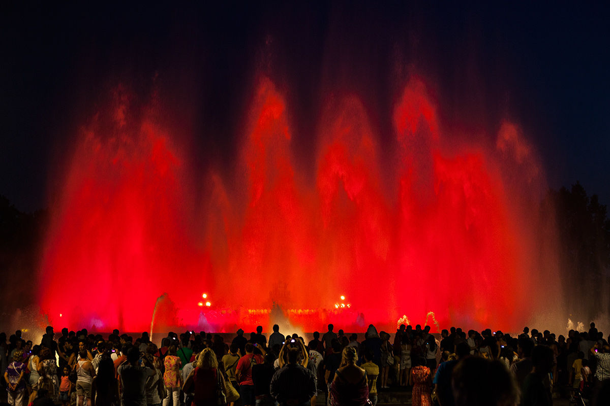 The Magic Fountain of Montjuïc, Barcelona, Spain.