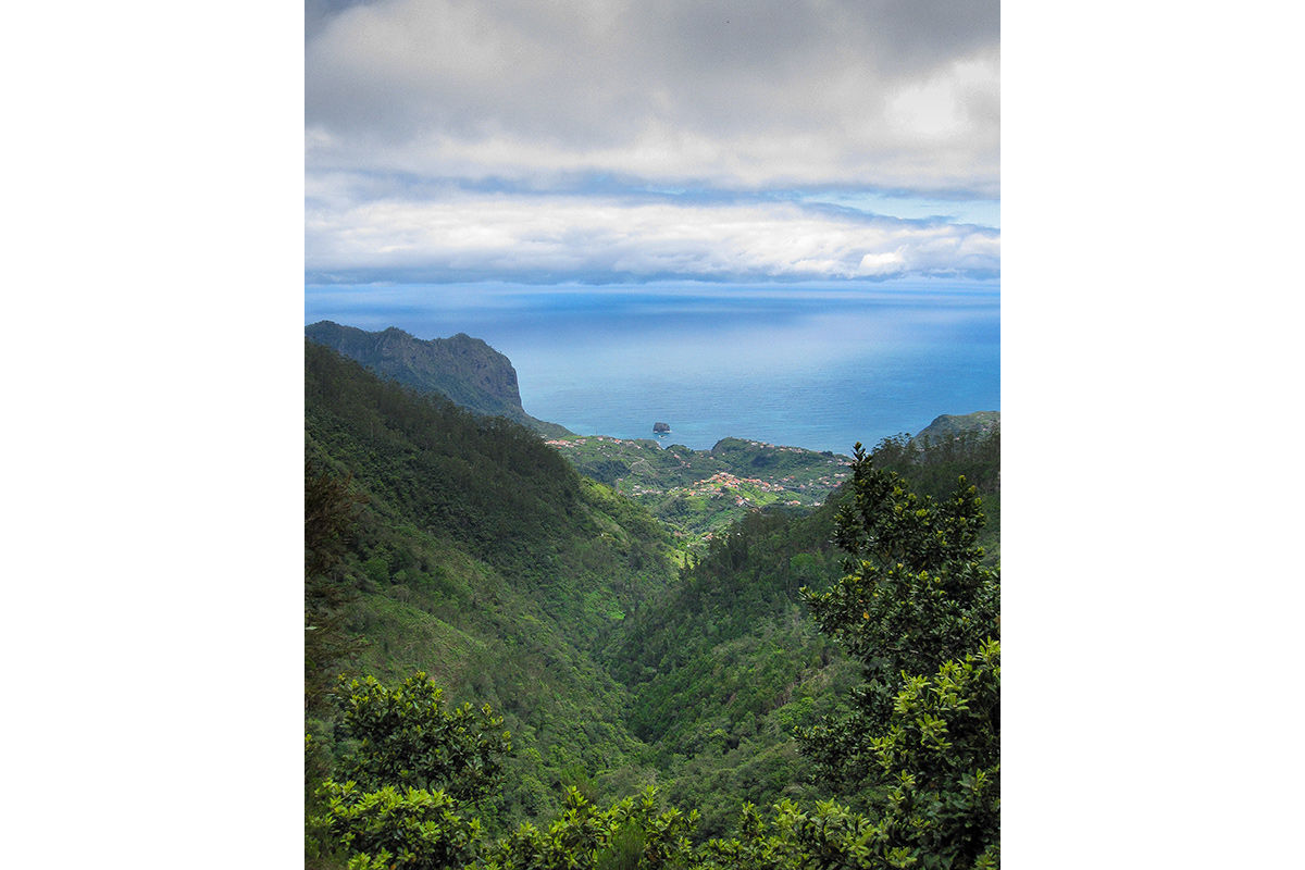 Looking down from the levadas in Madeira, Portugal.