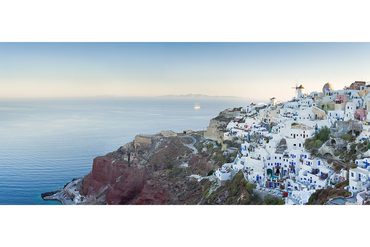 Early morning in Santorini, Greece.