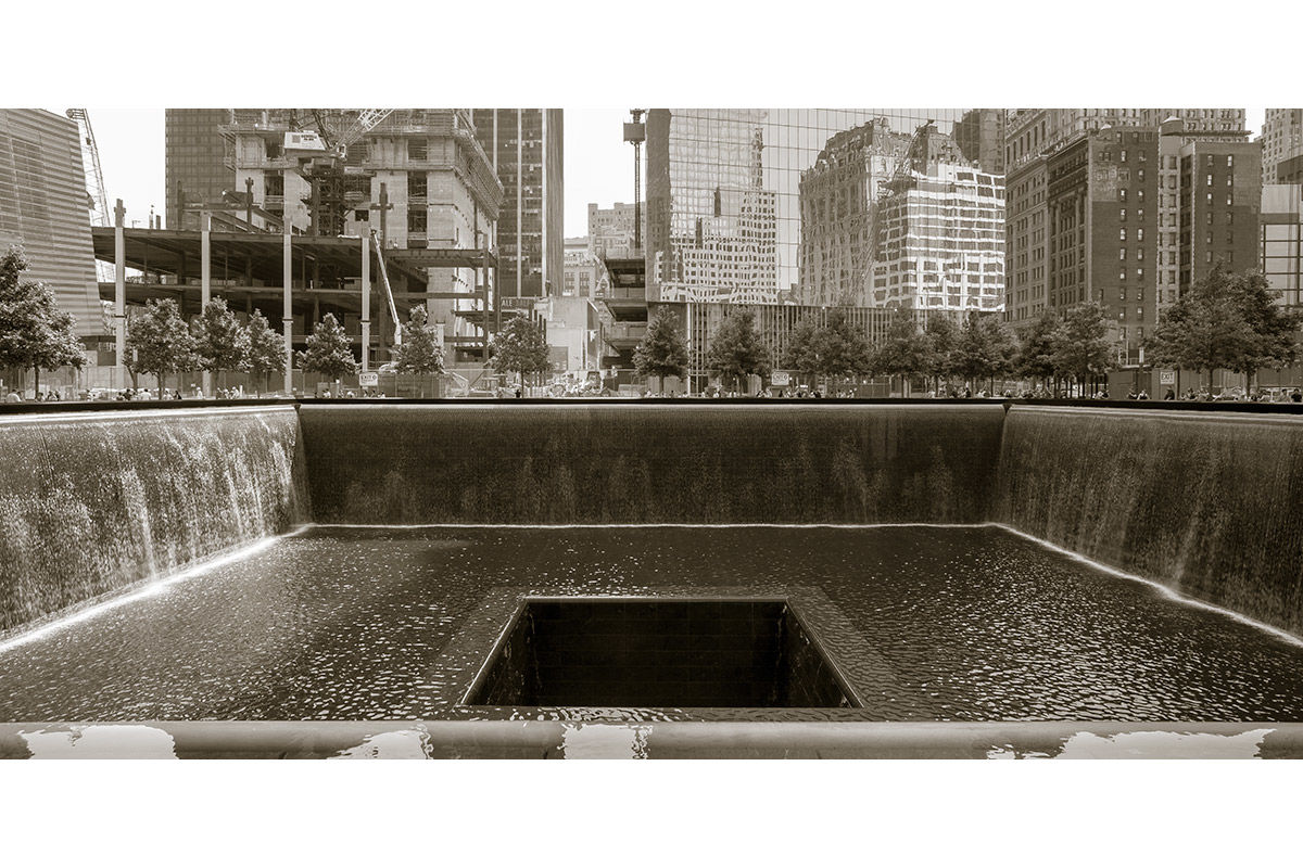 World Trade Center memorial, Lower Manhattan, New York, USA.
