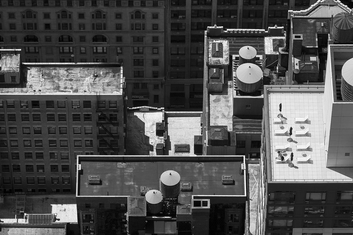 Manhattan roof tops. New York, USA.