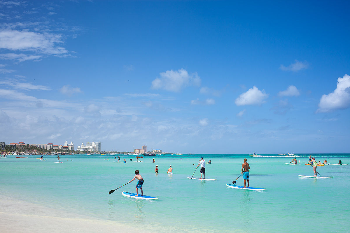 Fun and relaxation on the beach in Aruba.