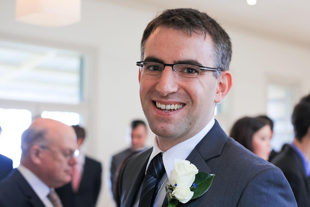 Wedding photography - The groom.