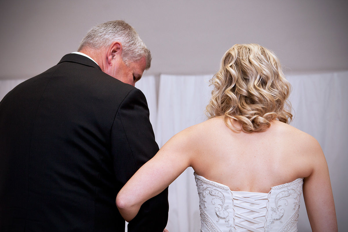 Wedding photography - father of the bride.