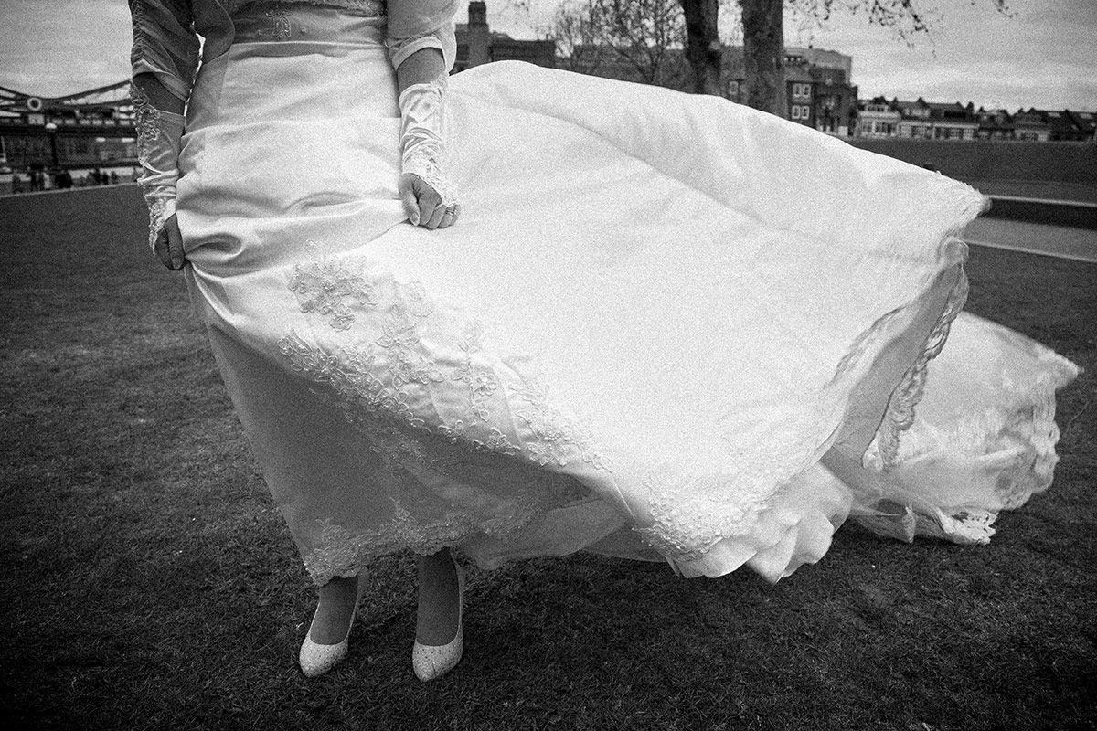 Wedding photography - the wedding dress.