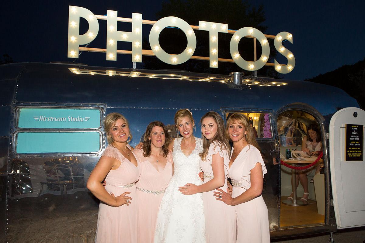 Bride with Bride's maids