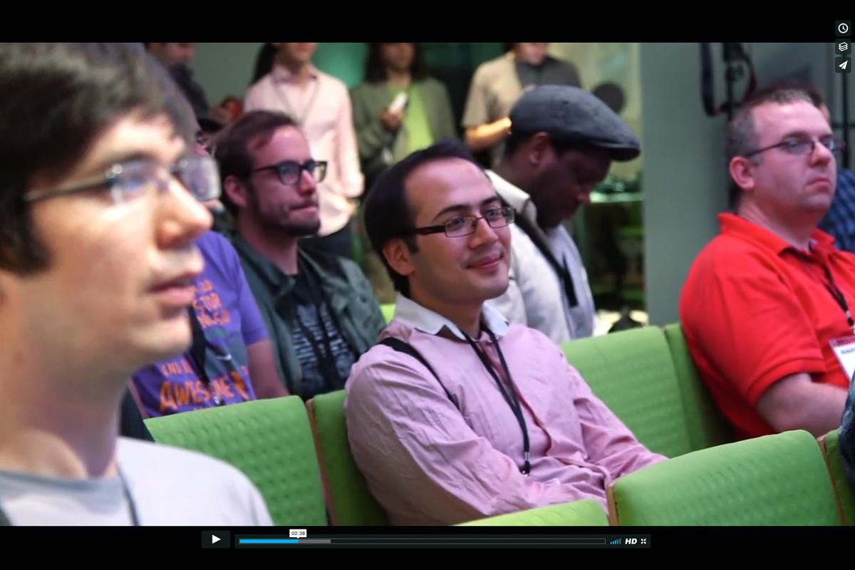 Still video frame from event film.