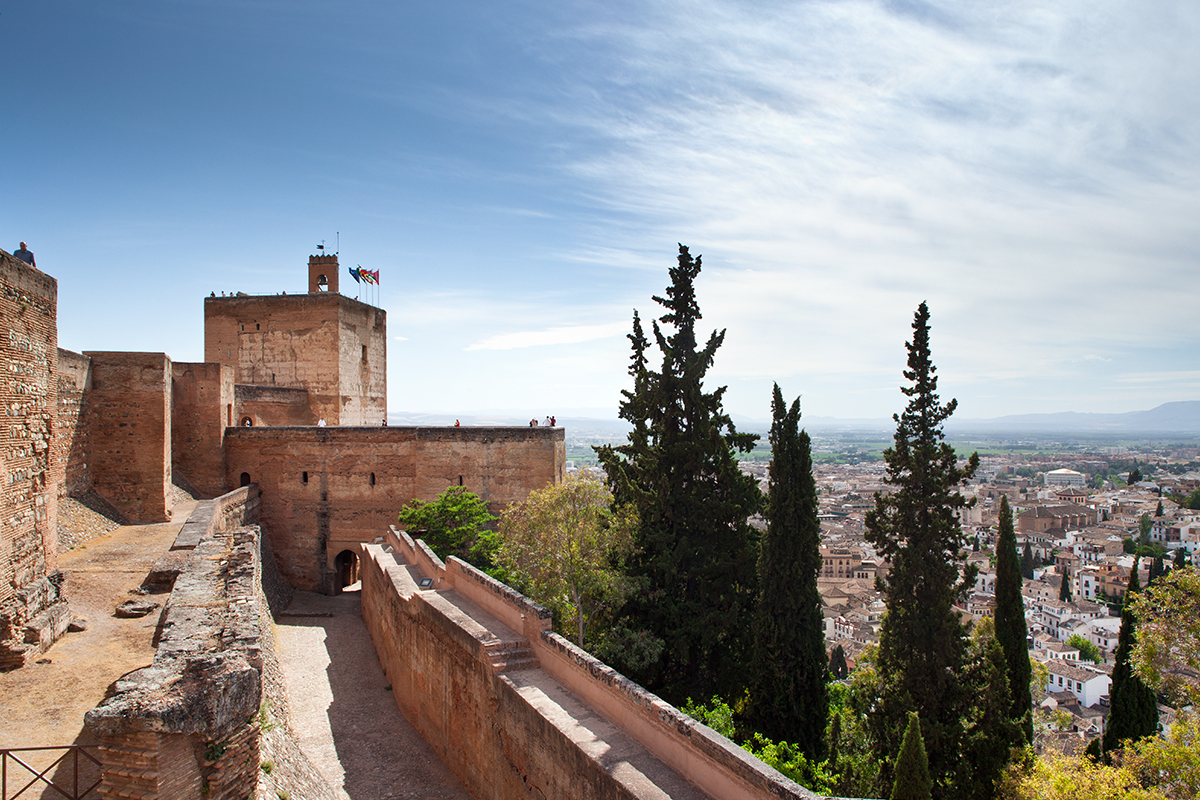 View of Grenada, Spain from the Alhambra.