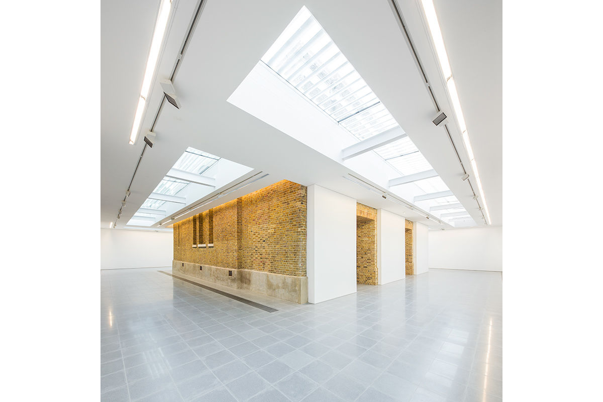 Pre opening interior view of The Serpentine Sackler Gallery, London, United Kingdom.