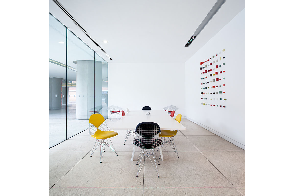 View of refurbished office space in central London, United Kingdom.