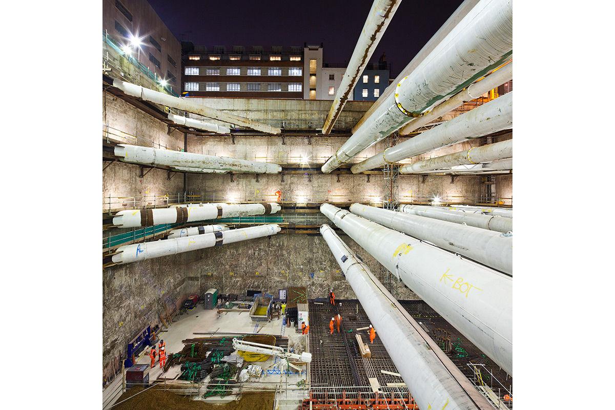 Tunnels construction, London, United Kingdom.